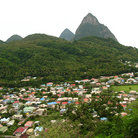 Picture - View over the town of Soufriere.