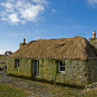 Picture - A traditional cottage on South Uist.