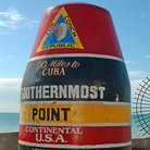 Picture - A marker at the southern most point in the USA, in Key West.