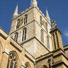 Picture - Close up of Southwark Cathedral in London.