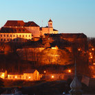 Picture - The hill top Spilberk castle in Brno, seen in the evening.
