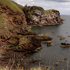 Picture - The rocky coastline of St Abbs Head.