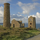 Picture - Remains of a Cornish Tin Mine near St.Agnes.