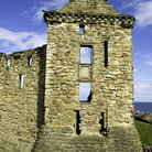 Picture - An old wall of St Andrews Castle.