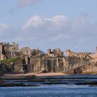 Picture - St Andrews Castle on the waterfront.