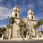 Picture - Front view of the St. Augustine Cathedral in the El Presidio district of Tucson.