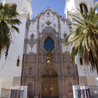 Picture - Twin towers flank the entrance to St Augustine Cathedral in Tucson.
