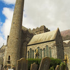 Picture - Round Tower circa 700-1000 beside St Canice's Cathedral, Kilkenny.