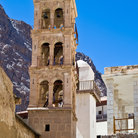 Picture - Monastery of St. Catherine over Mount Sinai.