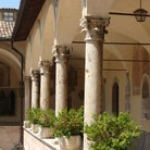 Picture - Colonnade at Basilica of St. Francis in Assisi.