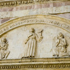 Picture - Carvings on the Basilica of Saint Francis in Assisi.