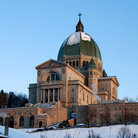 Picture - Snow covered Oratory of St. Joseph in Montreal.