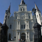 Picture - Gated entrance to the St Louis Cathedral in New Orleans.