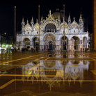 Picture - Pizza San Marco at night in Venice.