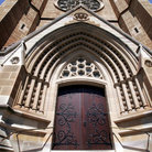 Picture - Entrance to Sydney's St Mary's Cathedral.