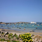 Picture - St Mary's harbor at Isles of Scilly.
