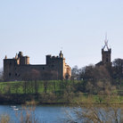Picture - St Michael's Kirk and the Palace at Linlithgow.