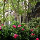 Picture - The garden of Church of Saint Ouen in Rouen.
