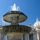 Picture - Fountain in Piazza San Pietro, Vatican.
