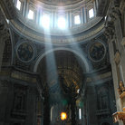 Picture - Light filtering into St Peters Basilica.