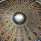 Picture - The interior of the dome at St Peters Basilica.