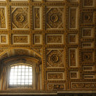 Picture - The golden ceiling of St Peters Basilica.