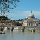 Picture - St Peters Basilica seen from the river.
