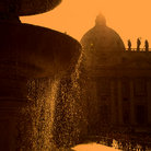 Picture - Fountain and dome of St Peter's Basilica.