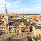 Picture - View of St Peter's Church and square in Munich.