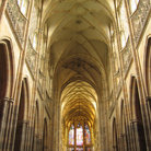Picture - Interior of St Vitus's Cathedral in Prague.