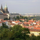 Picture - View of St Vitus cathedral in Prague.