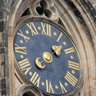 Picture - Clock face on the St Vitus's Cathedral at Prague.