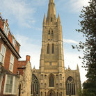 Picture - The tower of St Wulfram's Church in Grantham.