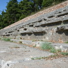 Picture - Remaining tiers of seats of Delphi Stadium (Stadion).