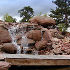 Picture - Waterfalls at the Stanley Hotel in Estes Park.