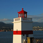 Picture - Brockton lighthouse at the east end of Stanley Park, Vancouver.
