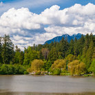 Picture - Summer at Lost Lagoon in Stanley Park in Vancouver.