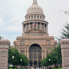 Picture - Gated entrance to the State Capitol building in Austin.