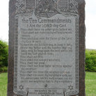 Picture - The Ten Commandments at the Texas State Capitol building in Austin.