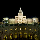 Picture - Texas State Capitol Building in Austin at night.