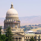 Picture - The dome of the Idaho State Capitol in Boise.