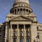 Picture - Entrance to the State Capitol building in Boise.