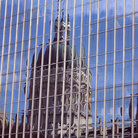 Picture - Reflection of the dome of State Capitol Building in Indianapolis.