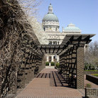 Picture - Walkway to the Indiana State Capitol building in Indianapolis.