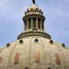 Picture - Detail of the dome on the State Capitol building in Jefferson City.