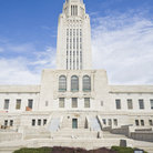 Picture - The modern State Capitol building in Lincoln.