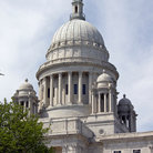 Picture - Dome of the Rhode Island State Capitol in Providence.