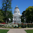Picture - Gardens and California State Capitol Building, Sacramento.