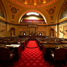 Picture - Senate chambers in the Minnesota State Capitol Building in St Paul.