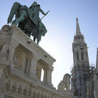 Picture - Statue of Saint Stephen at Fishermen's Bastion.